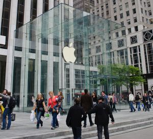 The Apple Store on Fifth Avenue in New York City,