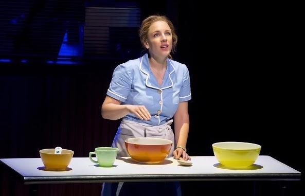 Jessie Mueller as Jenna in Waitress.