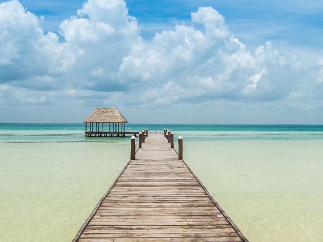 The pier at Isla Holbox.