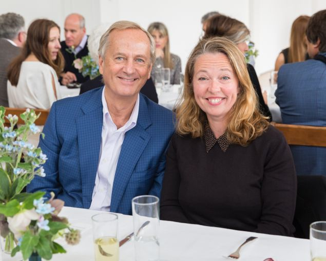 Art collector George Economou and artist Jenny Saville at the Dia Art Foundation's Annual Spring Benefit at Dia:Beacon on May 7, 2016.
