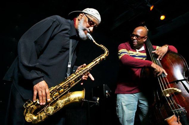(From left) Sonny Rollins and Christian McBride.