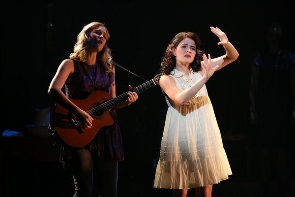 Katie Boeck and Sandra Mae Frank in the Deaf West Theatre revival of 'Spring Awakeing.'