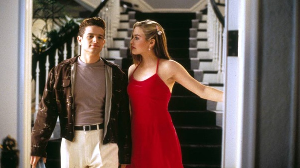 "In Clueless, Cher's date ends up being a ""disco dancing, Oscar Wilde reading, Streisand ticket holding friend of Dorothy."""