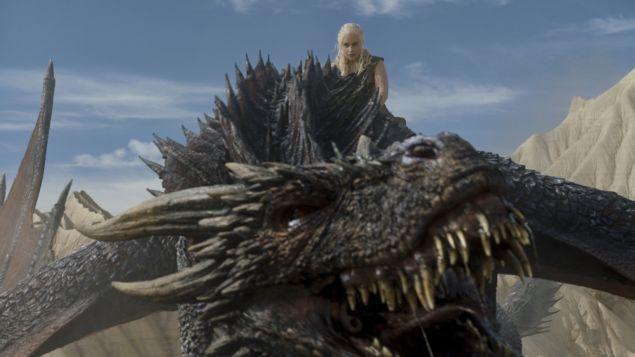 Emilia Clarke as Daenerys Targaryen.