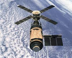 Skylab in orbit.