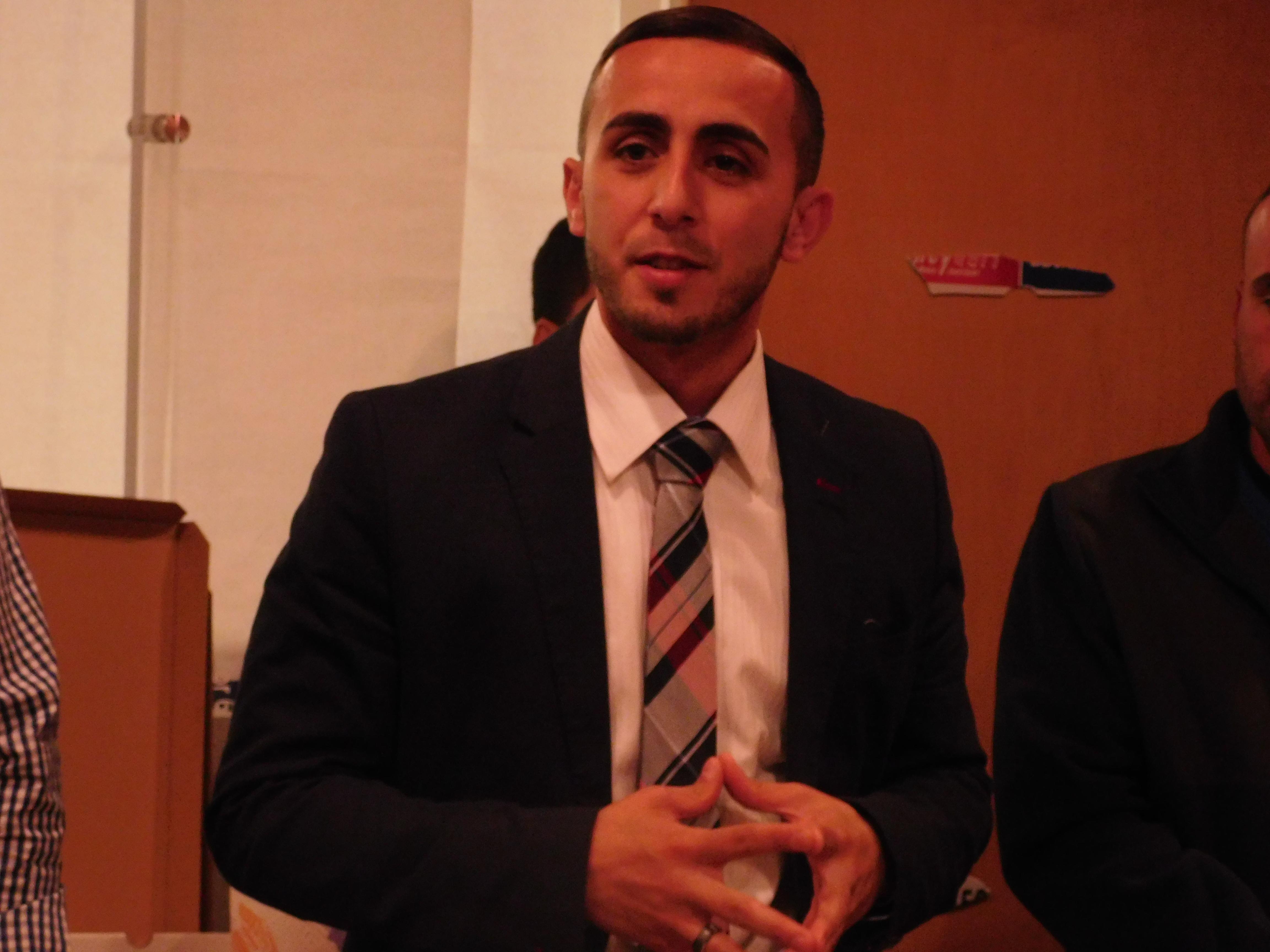 Abdelaziz at his campaign headquarters.