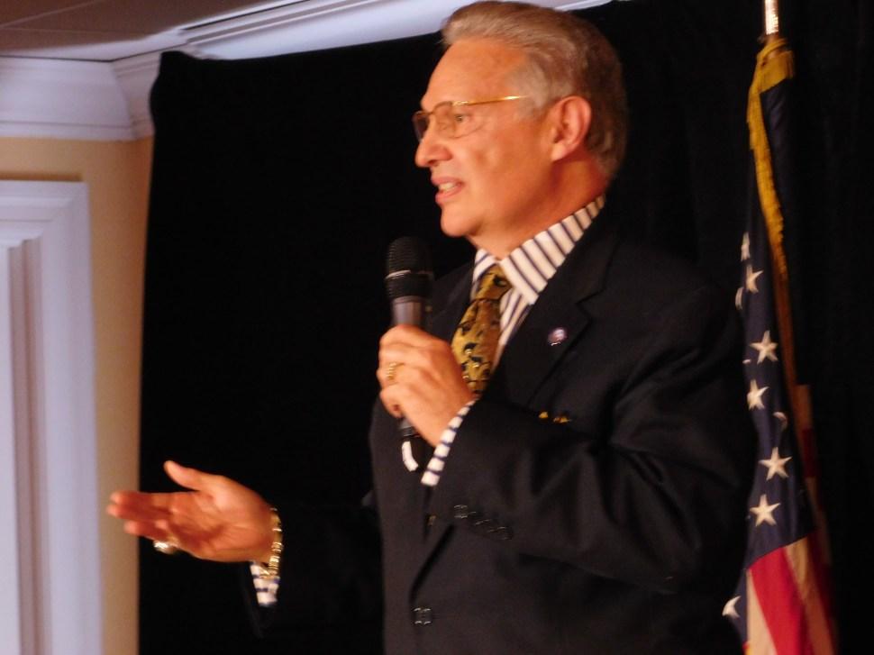 Lou Stellato introduced Chelsea Clinton.