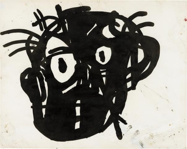 Jean-Michel Basquiat, Untitled Head, 1982.