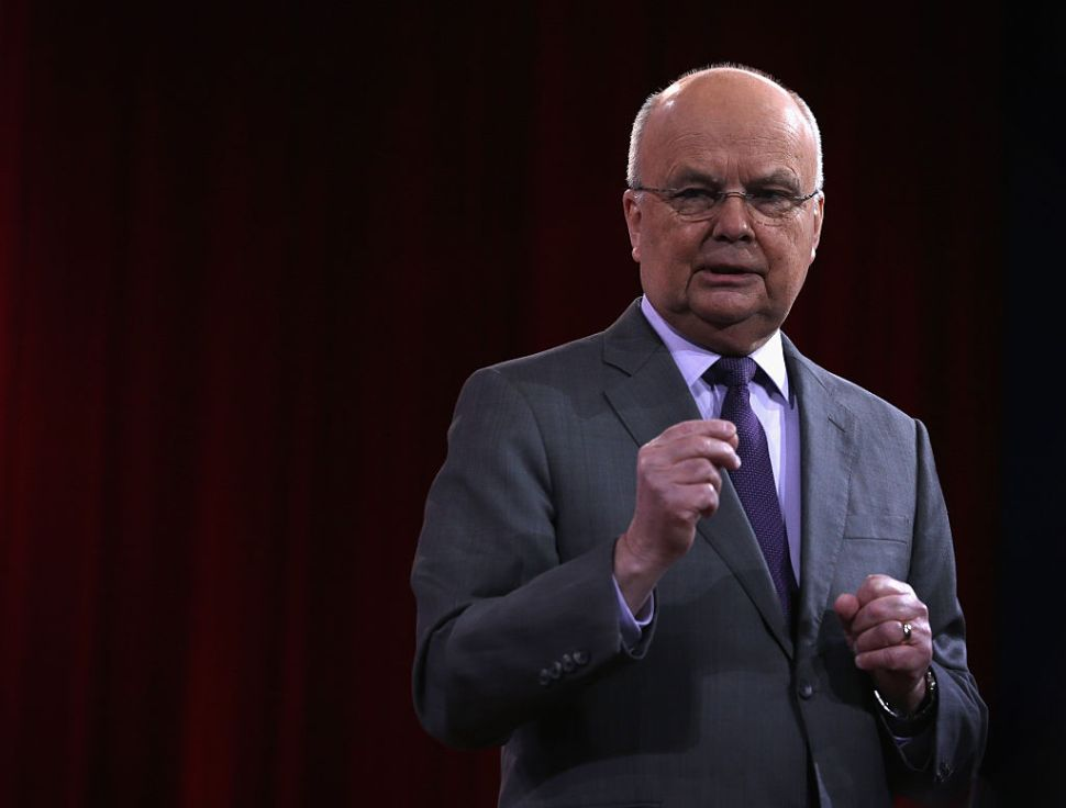 NATIONAL HARBOR, MD - FEBRUARY 27: Former CIA and NSA director Gen. Michael Hayden (Ret.) speaks during a discussion at the 42nd annual Conservative Political Action Conference (CPAC) February 27, 2015 in National Harbor, Maryland. Conservative activists attended the annual political conference to discuss their agenda.