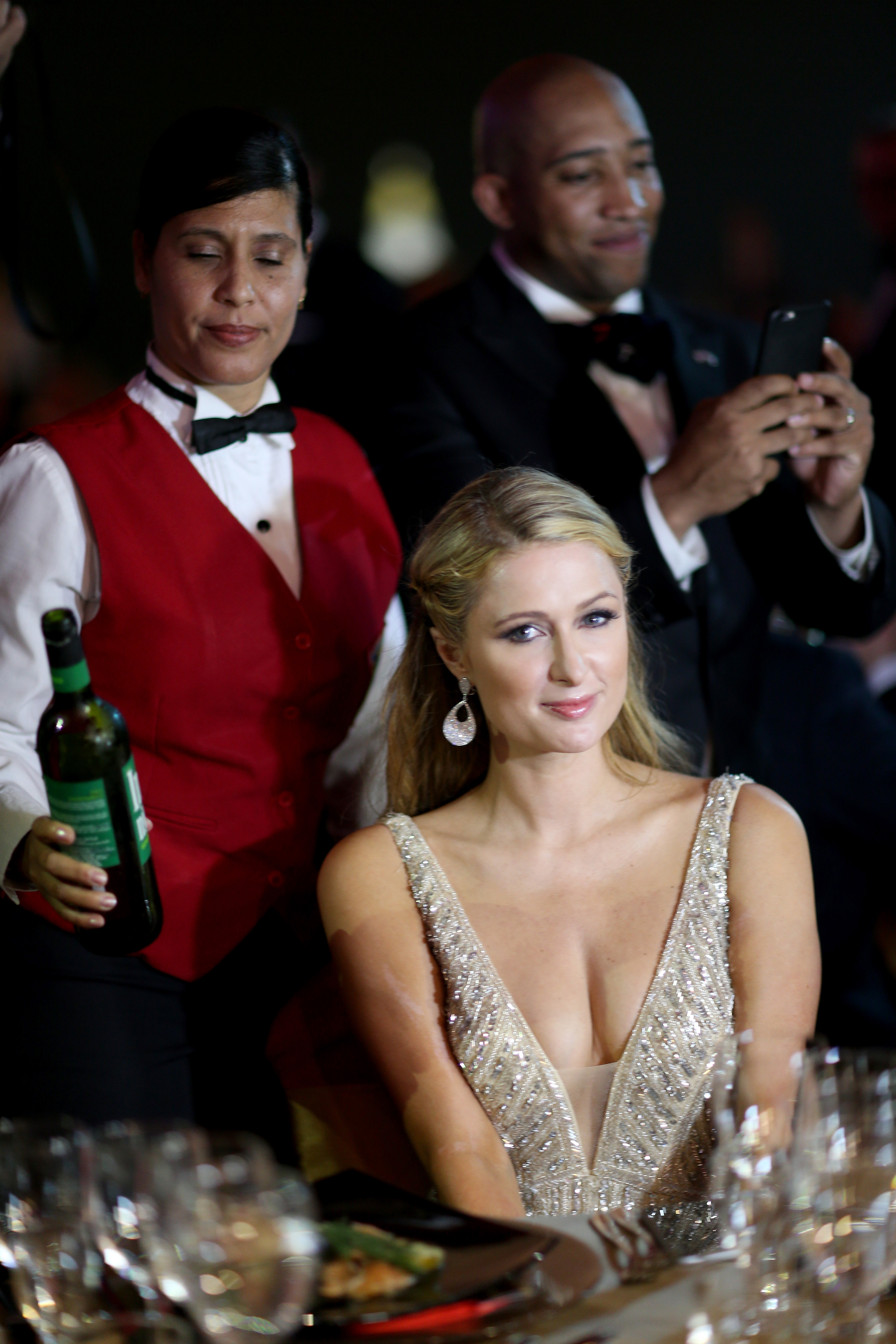 HAVANA, CUBA - FEBRUARY 27: Paris Hilton attends the closing gala night for the week-long International Habano Cigar Festival on February 27, 2015 in Havana, Cuba. The annual cigar festival attracted tourists from around the world to sample the islands world renowned tobacco. (Photo by Joe Raedle/Getty Images)