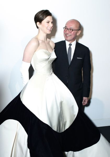 Elettra Wiedemann with Harold Koda at the premiere of the Charles James Exhibition preview in 2014