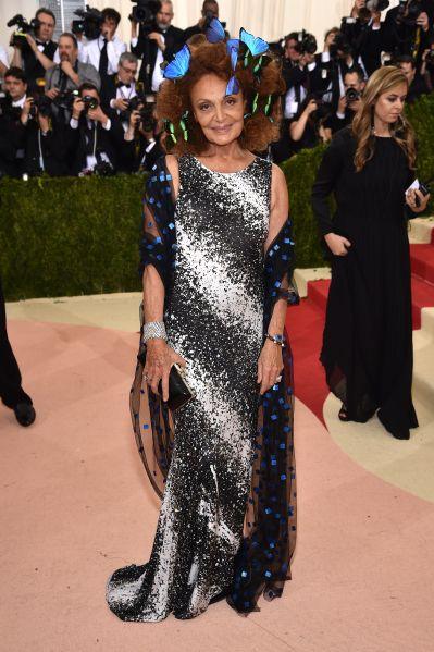 Diane von Furstenberg at the Met Gala