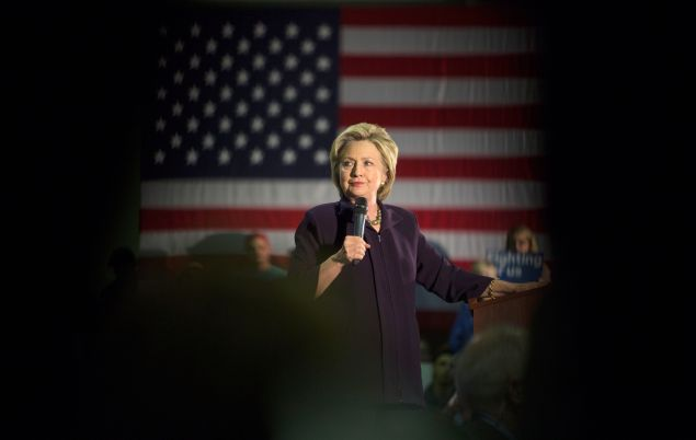 Democratic presidential candidate Hillary Clinton speaks at a campaign event at Camden County College on May 11, 2016 in Blackwood, New Jersey.