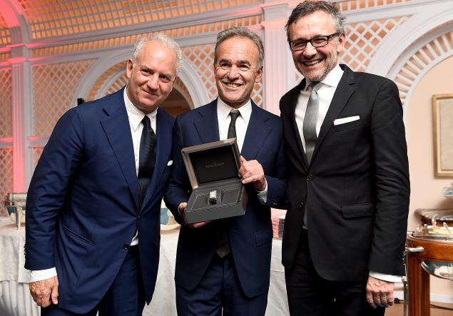 Charles Finch, Nick Broomfield and Laurent Vinay attend as Charles Finch hosts the 8th Annual Filmmakers Dinner with Jaeger-LeCoultre at Hotel du Cap-Eden-Roc.