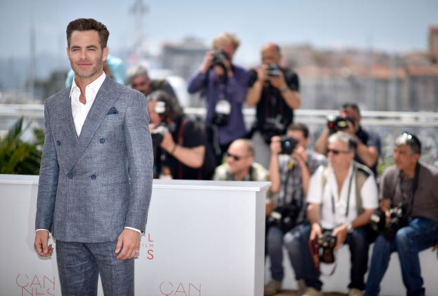 Chris Pine does the tweed