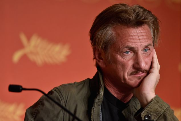 Sean Penn attends the The Last Face press conference during the 69th annual Cannes Film Festival.