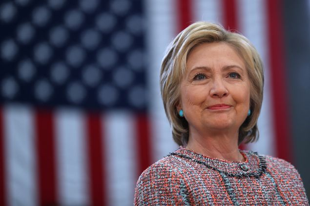 Democratic presidential candidate former Secretary of State Hillary Clinton.