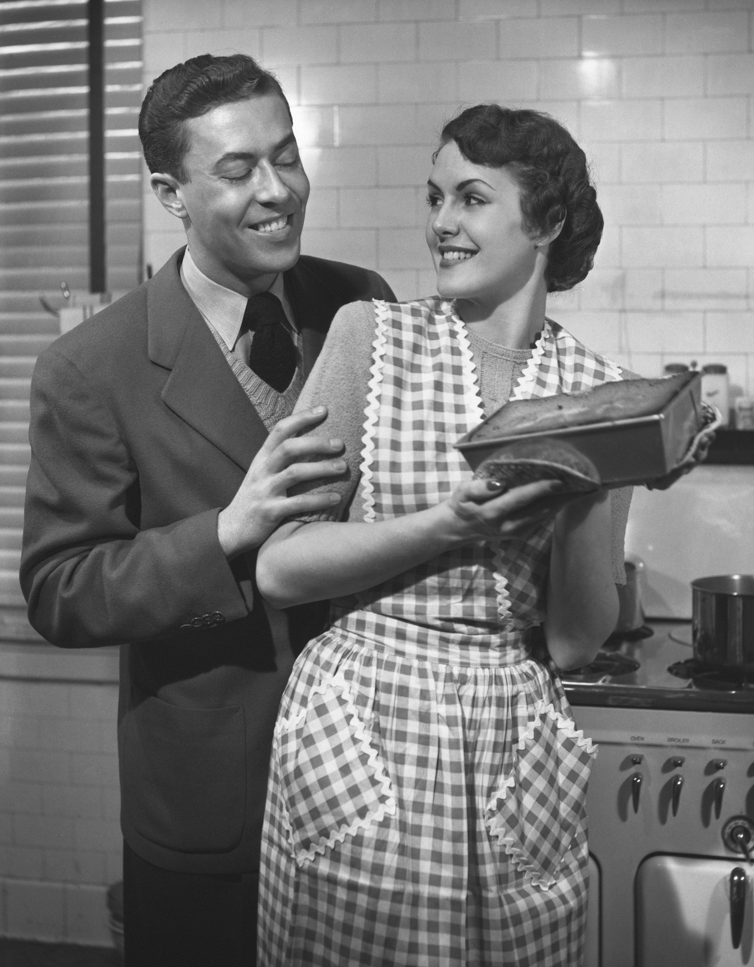 A couple shacking up in the 50s.