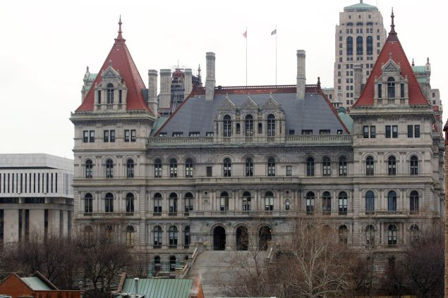The New York State Capitol building is seen March 16, 2008 in Albany, New York.