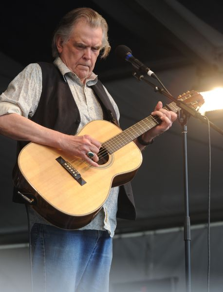 NEW ORLEANS - MAY 03: Singer/Songwriter Guy Clark performs at the 2009 New Orleans Jazz & Heritage Festival at the Fair Grounds Race Course on May 3, 2009 in New Orleans.