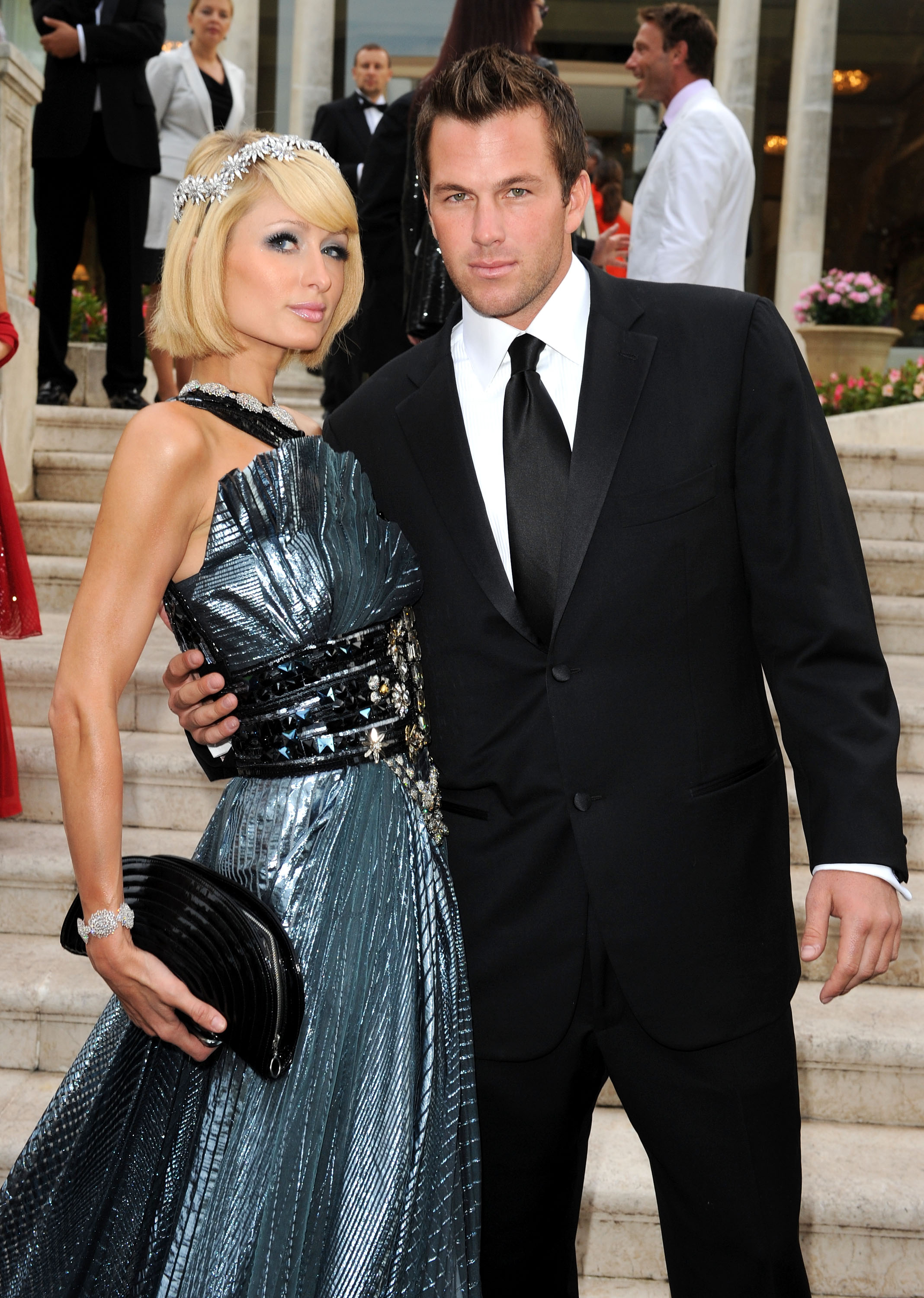 ANTIBES, FRANCE - MAY 21: Doug Reinhardt and Paris Hilton attend the amfAR Cinema Against AIDS 2009 benefit at the Hotel du Cap during the 62nd Annual Cannes Film Festival on May 21, 2009 in Antibes, France.