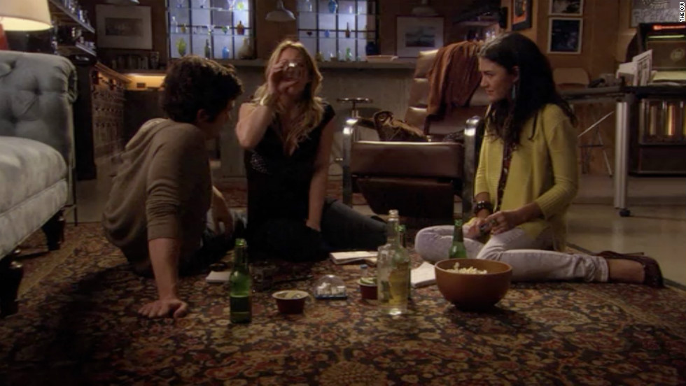 The infamous Gossip Girl threesome, starring teen queen Hilary Duff.