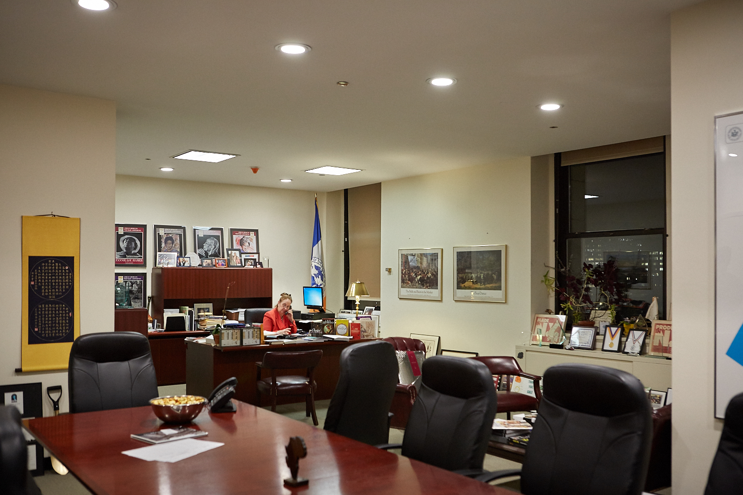 Gale Brewer in her office on the 19th floor of One Centre Street in downtown Manhattan.