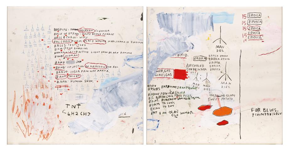 Jean-Michel Basquiat, Eroica I and II, 1988.