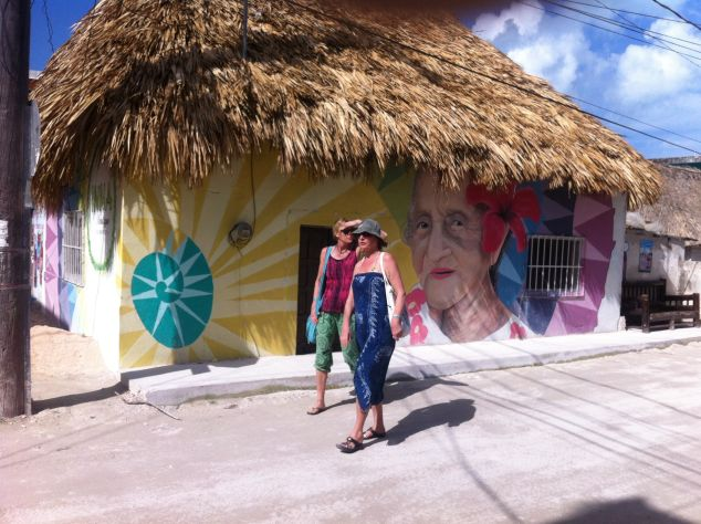 The streets of Isla Holbox.