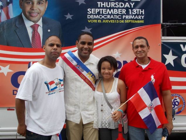 Nelson Castro with supporters.