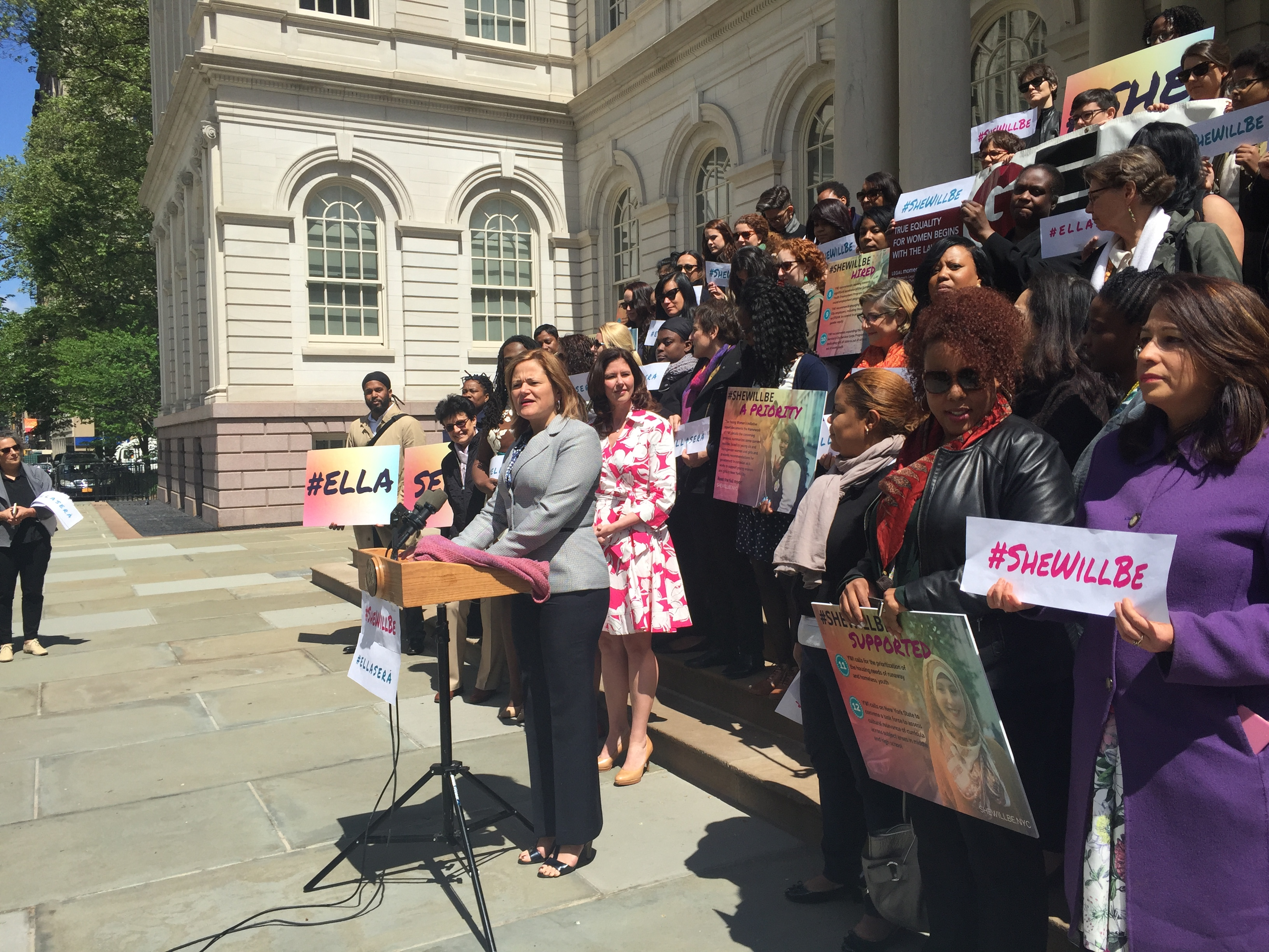 City Council Speaker Melissa Mark-Viverito rolls out the Young Women's Initiative today.
