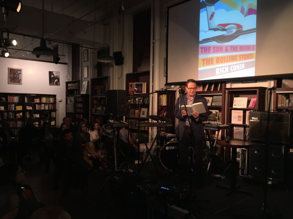Author Rich Cohen reads from his new book 'The Sun & The Moon & The Rolling Stones' at Housing Works in SoHo on May 10, 2016.