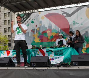 Feedback's Tristram Stuart spoke about the campaign at Union Square on Tuesday, May 10th, 2016.