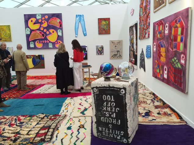Canada Gallery's booth, curated by Katherine Bernhardt.