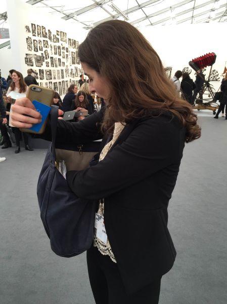 Juliet finds a sculpture in her purse.