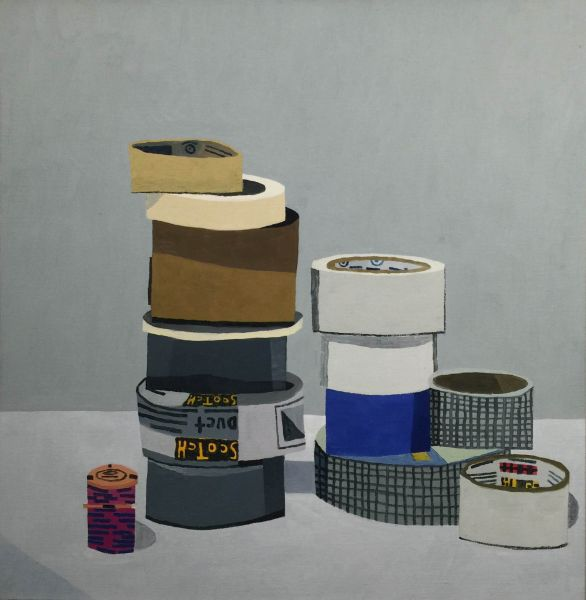 Jonas Wood, Tape Still Life, 2008.