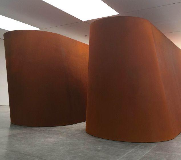 Richard Serra's NJ-1, 2015, at the Gagosian gallery on 21st Street in Chelsea.