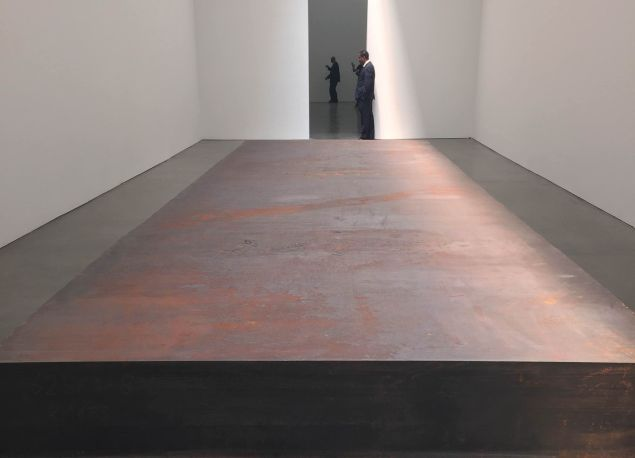 Richard Serra's (For John Cage), 2015, at the Gagosian gallery on 24th Street.