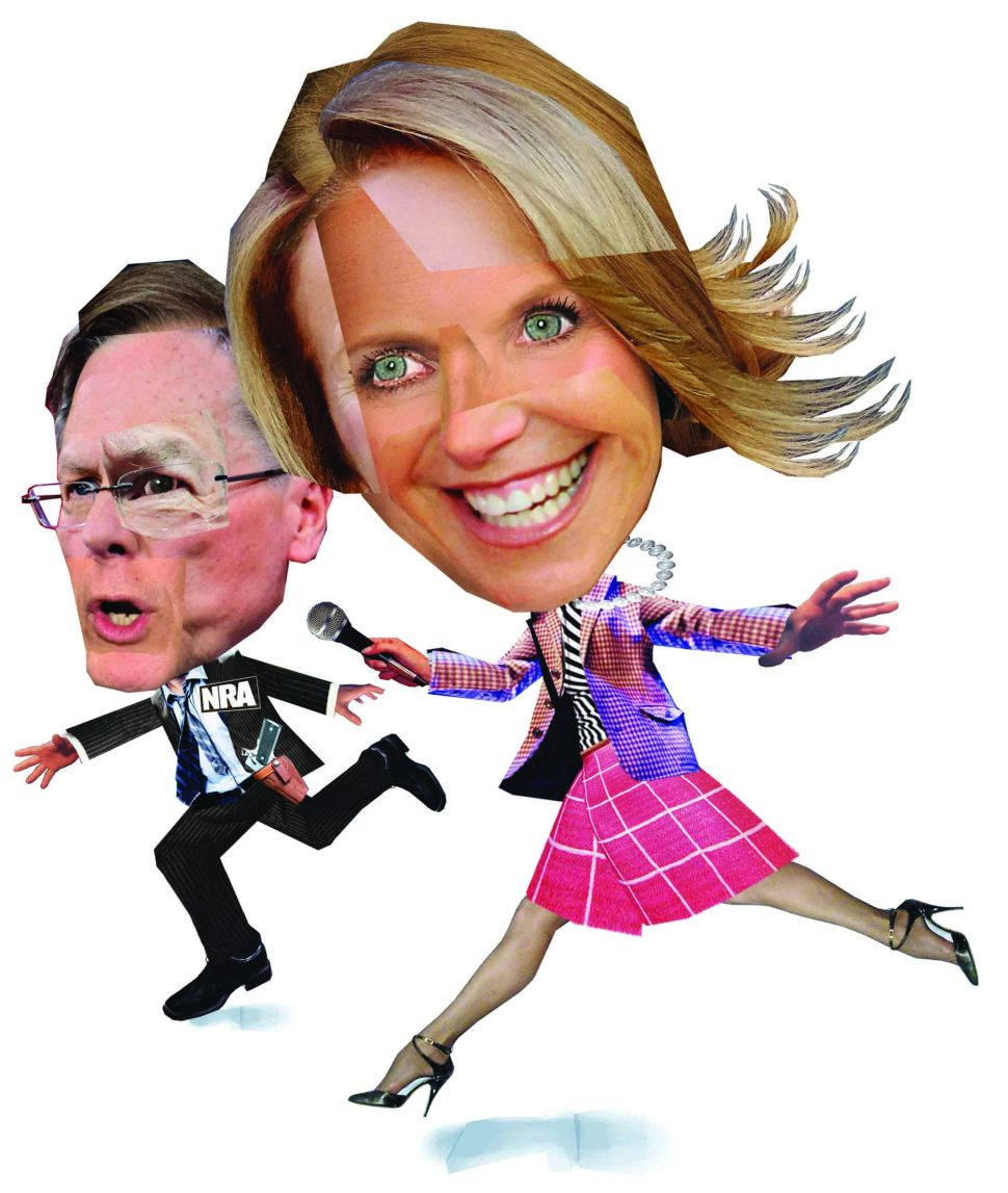 Katie Couric went after Wayne LaPierre in her latest documentary.