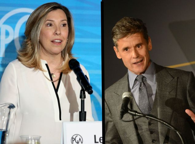 Two of Hollywood's fiercest gatekeepers: publicists Leslee Dart and Simon Halls.