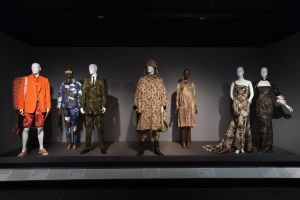 Military inspired fashion at the exhibition