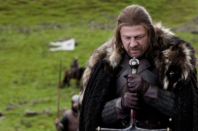 Sean Bean as Eddard Stark.