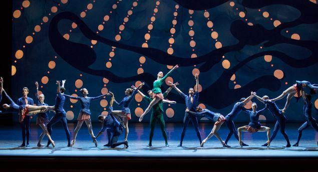Tiler Peck and Robert Fairchild American Rhapsody World Premiere Spring Gala Choreography by Christopher Wheeldon Music by George Gershwin New York City Ballet.