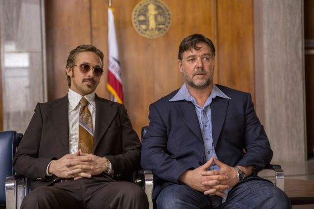 Ryan Gosling, left, and Russell Crowe in The Nice Guys.