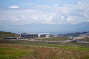 BLUFF DALE, UT - MAY 7: The NSA's new spy data collection center is seen just south of Salt Lake City May 7, 2015 in Bluffdale, Utah. Reportedly, the center is the largest of its kind with massive computer power for processing data. A New York Court of appeals ruled that the NSA's bulk collection of phone data is illegal.