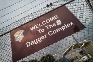 GRIESHEIM, GERMANY - JUNE 24: The Dagger Complex, which according to media reports, is a facility used by the United States' National Security Agency (NSA), is pictured on June 24, 2014 in Griesheim, Germany. Documents recently released by former NSA employee Edward Snowden to the German media show a high level of activity of the NSA within Germany as well as active sharing of information between the NSA and German authorities. The Bundestag has convened a special commission to investigate the activities of the NSA following the revelation last year that the NSA had tapped the phone of German Chancellor Angela Merkel.