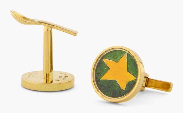 Peter Blake, Yellow Star, Cufflinks. Est. $5,000-8,000.