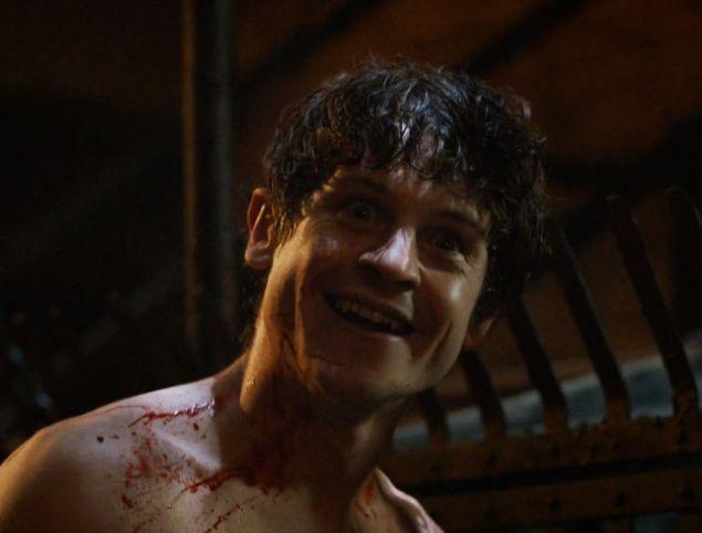 Ramsay Bolton (Iwan Rheon) on Game of Thrones.