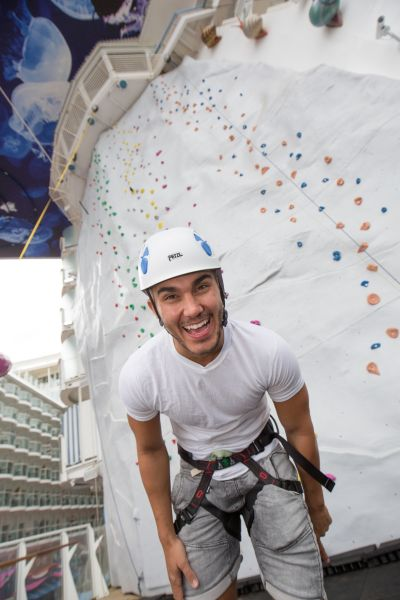 Carlos PenaVega enjoying the onboard activities on Harmony of the Seas.