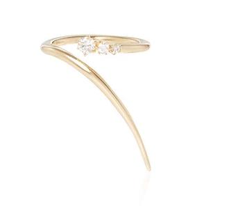 Jade Trau 14K Gold Three Stone Rae Wrap Ring, $1,500, JadeTrau.com